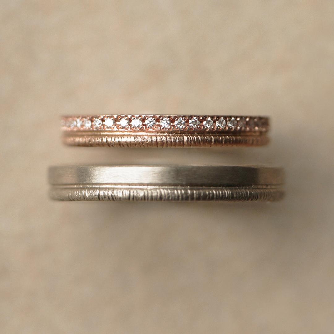 シンプル,アンティーク 結婚指輪のPath〜小径〜