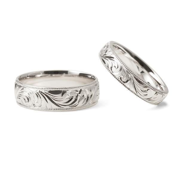 個性的 結婚指輪の永遠 和唐草(わからくさ)