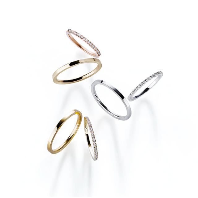 フェミニン,ゴージャス 結婚指輪のティナリング