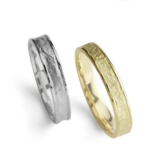 個性的 結婚指輪の蛍灯 明燈(あけび)