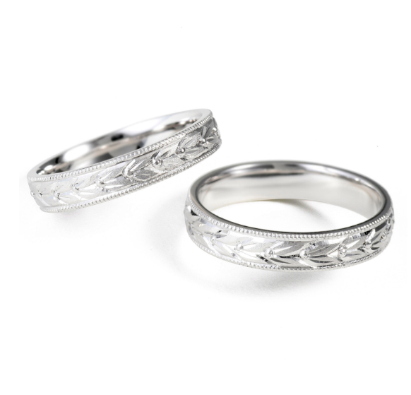 個性的 結婚指輪の永遠 月桂樹(げっけいじゅ)
