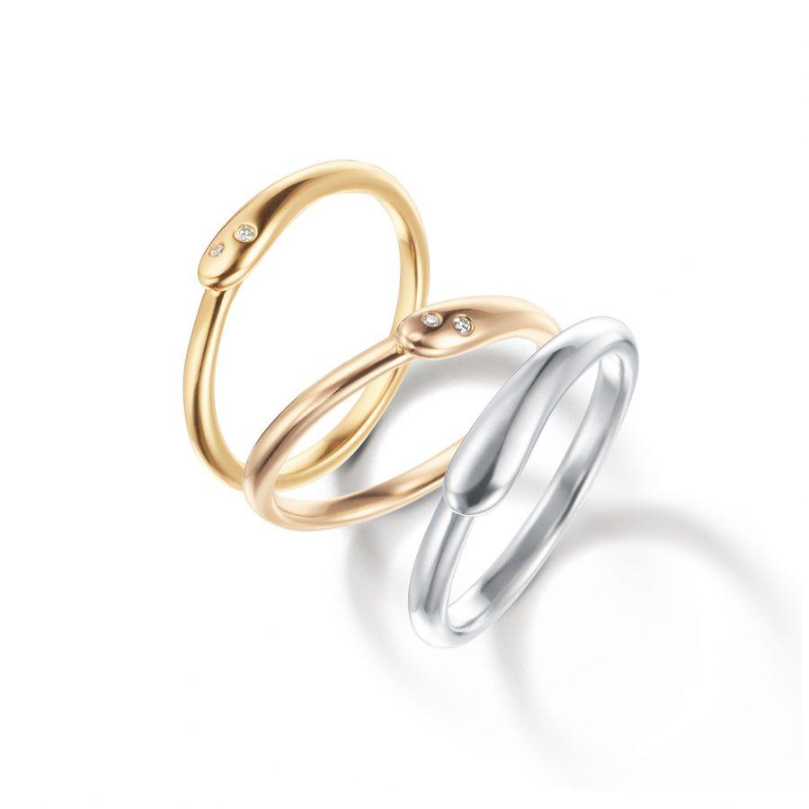 フェミニン,個性的 結婚指輪の白夜