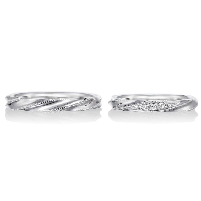シンプル,フェミニン 結婚指輪のシェリ