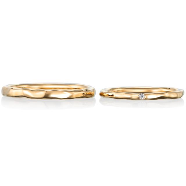 シンプル,フェミニン 結婚指輪のレーヴ