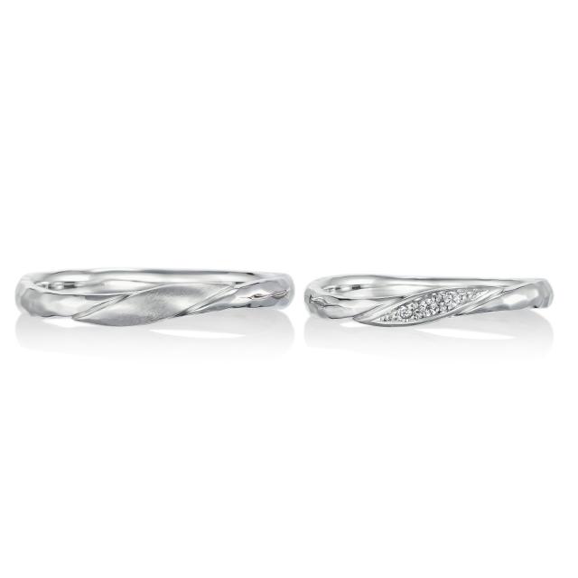 シンプル,フェミニン 結婚指輪のプリュネル