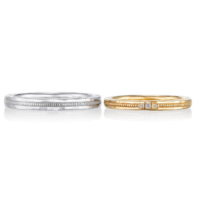 シンプル,フェミニン 結婚指輪のプロメス