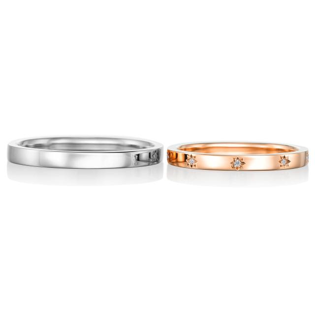 シンプル,フェミニン 結婚指輪のリミュヌー