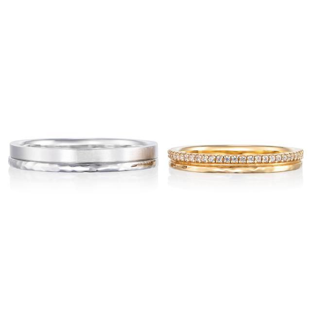 シンプル,フェミニン 結婚指輪のビズ