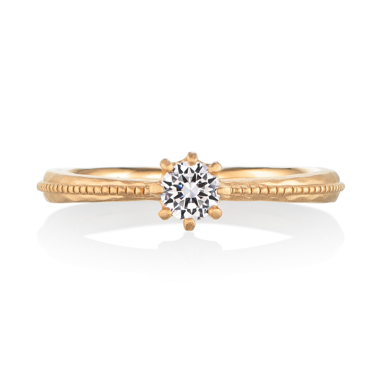 シンプル,フェミニン 婚約指輪のエテェネル