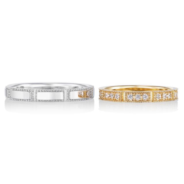 シンプル,フェミニン 結婚指輪のプールトゥジュール