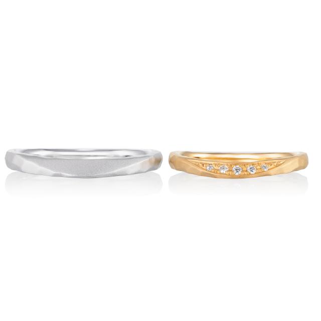 シンプル,フェミニン 結婚指輪のアムー