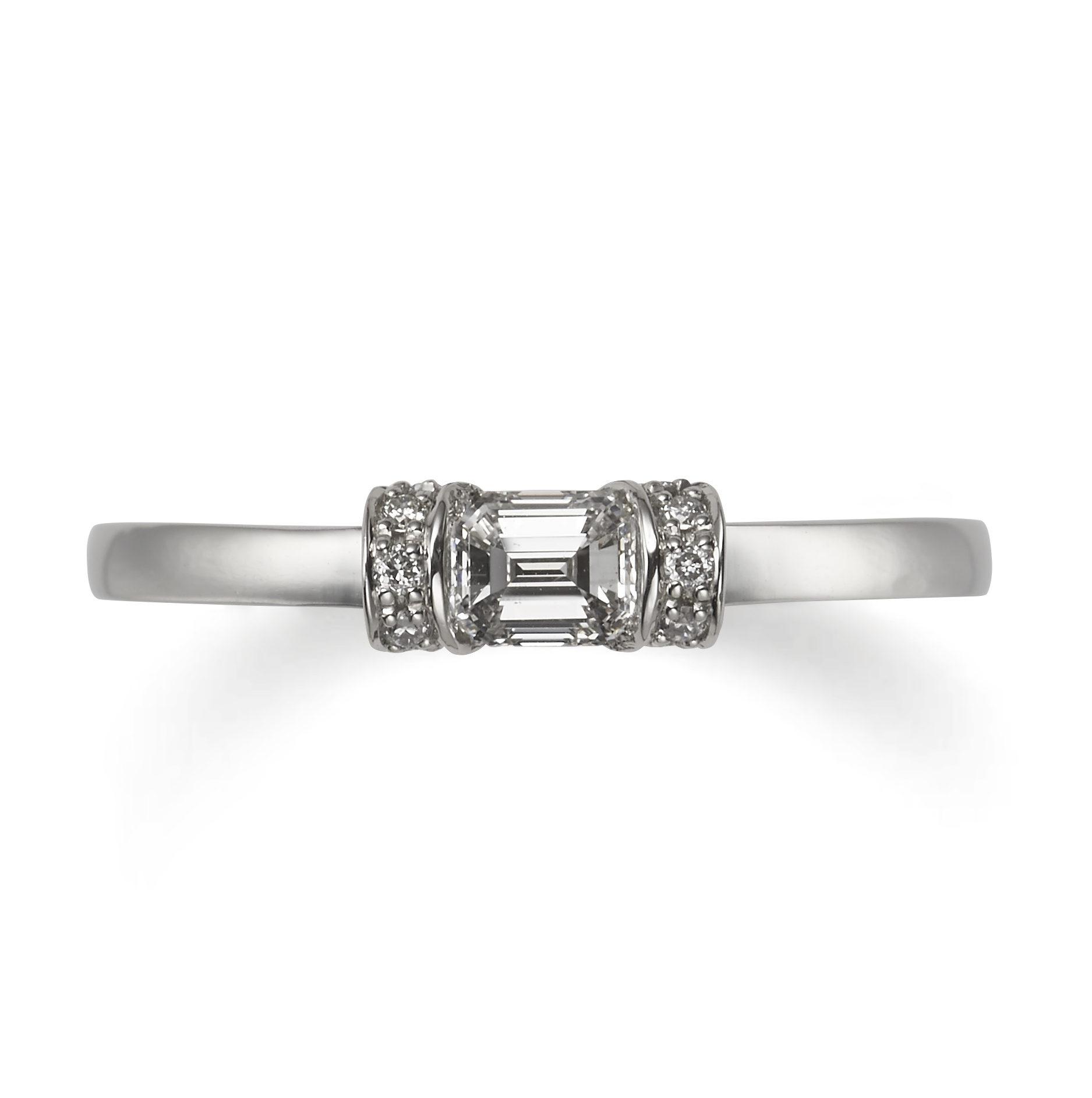 個性的 婚約指輪のスイートマジョラム