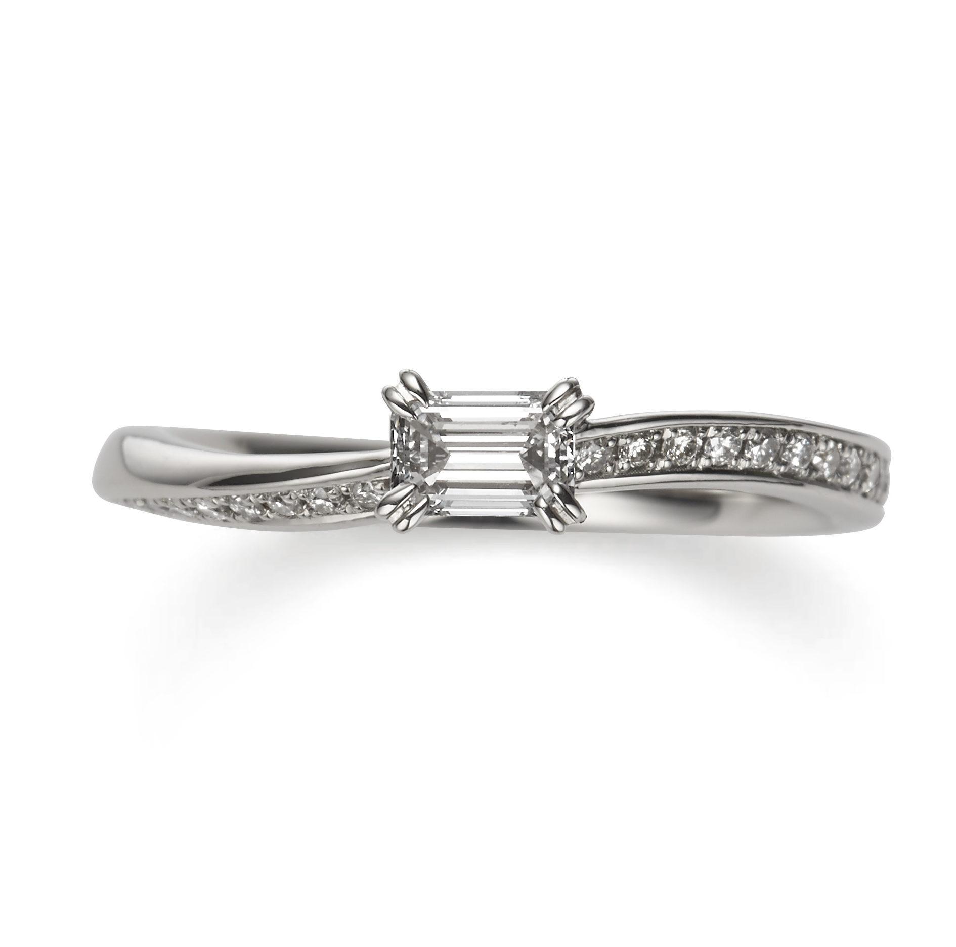 個性的 婚約指輪のイランイラン