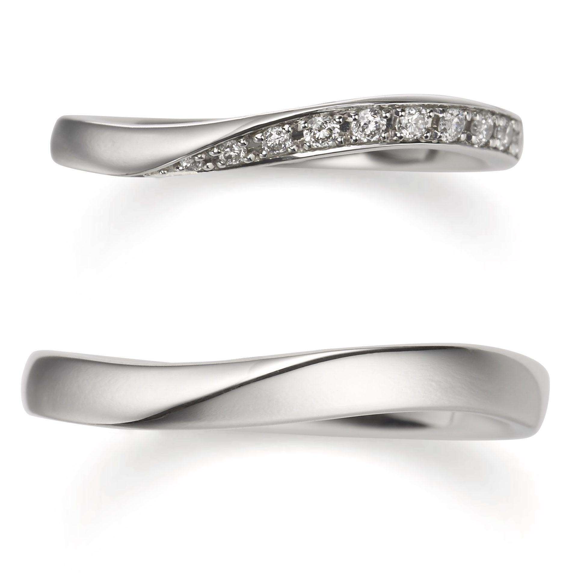 個性的 結婚指輪のイランイラン