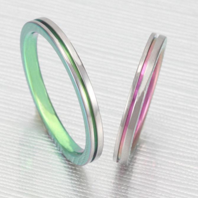 個性的 結婚指輪のTITANIO No.1