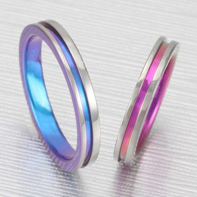 個性的 結婚指輪のTITANIO No.2