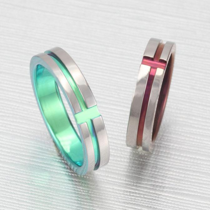 個性的 結婚指輪のTITANIO No.4