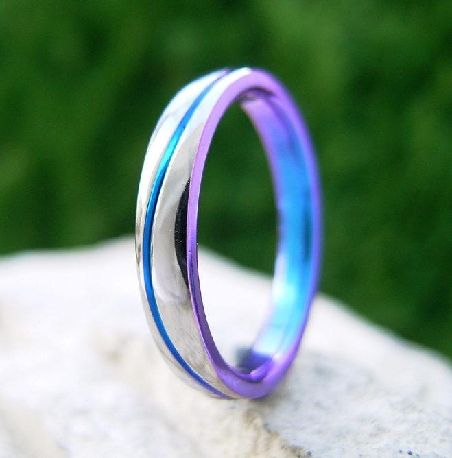 個性的 結婚指輪のマーレ(海)