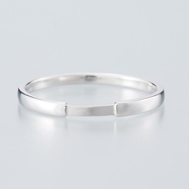 シンプル 結婚指輪のMJS-2