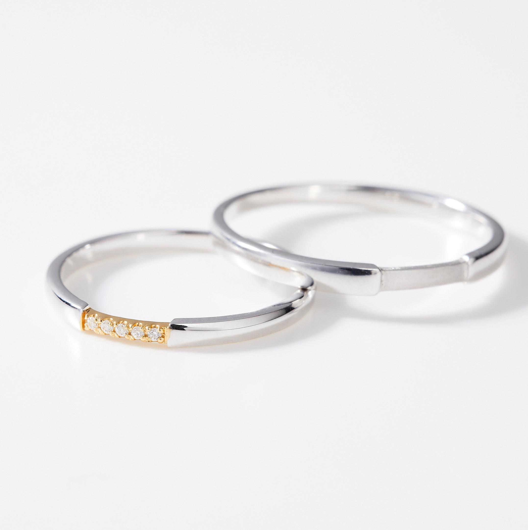シンプル 結婚指輪のMJS-1・MJS-2