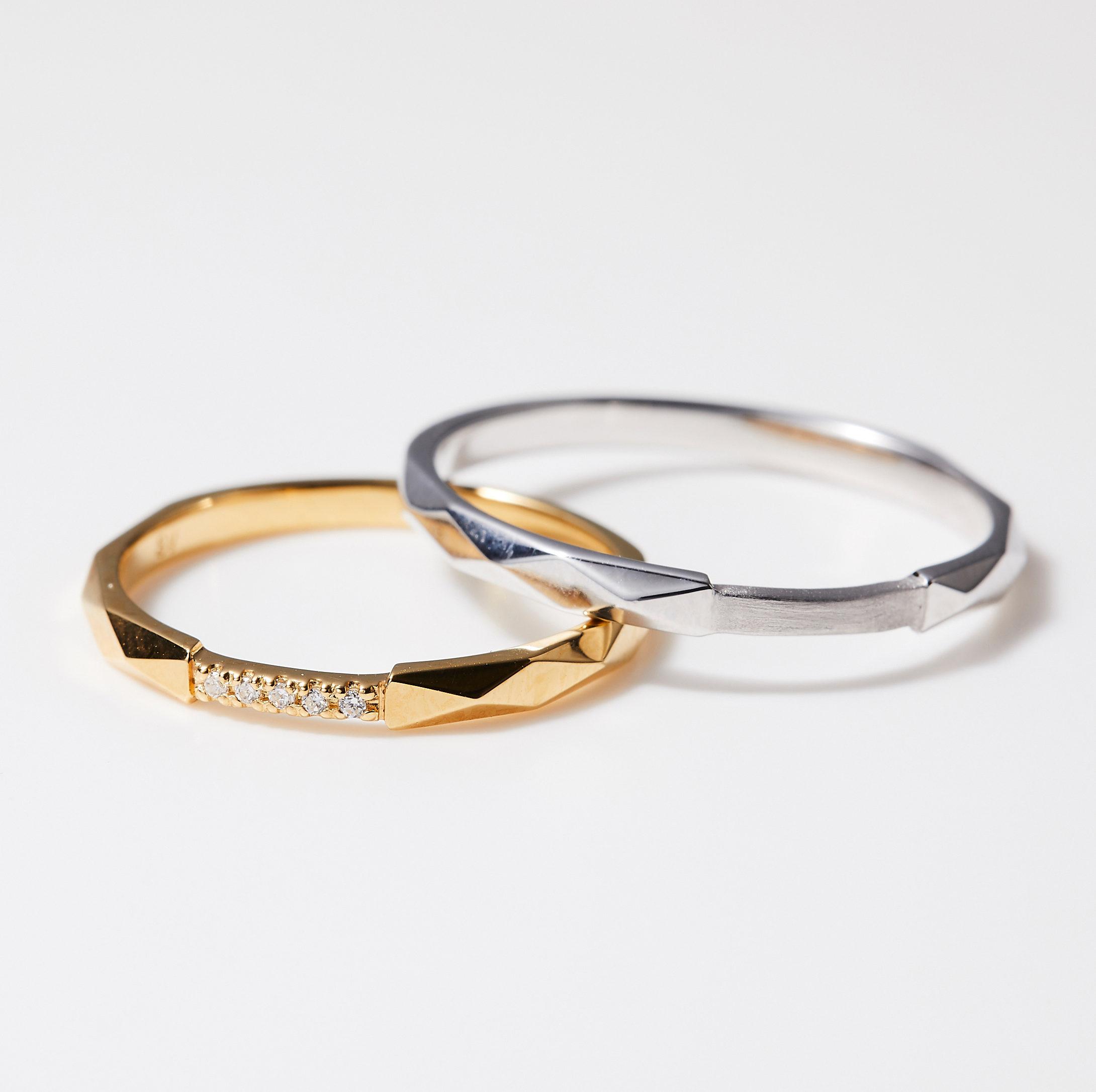 シンプル 結婚指輪のMJS-3・MJS-7