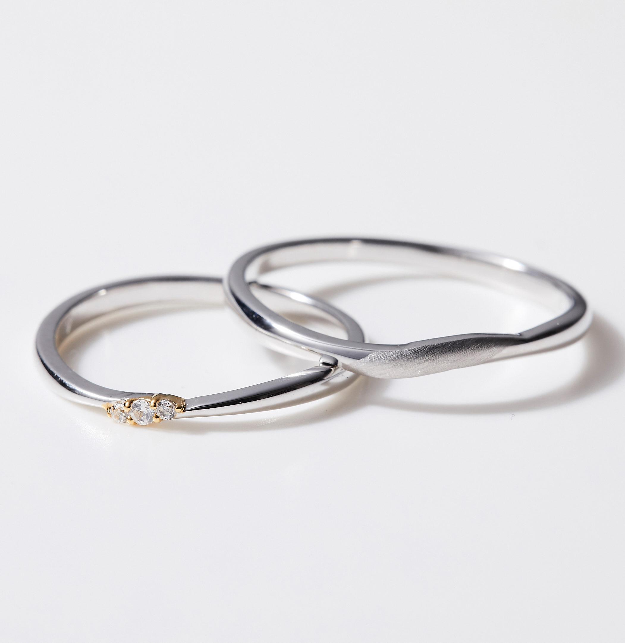 シンプル 結婚指輪のMJS-12・MJS-14