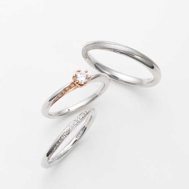 フェミニン 婚約指輪のmilky way