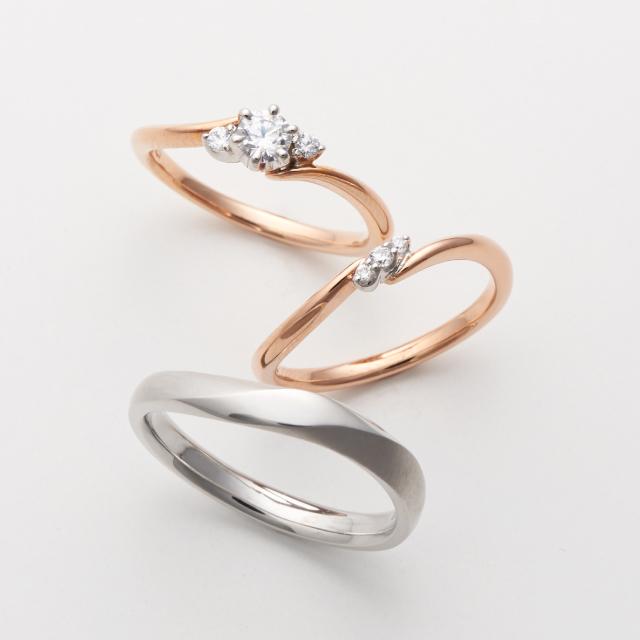 フェミニン 婚約指輪のbouquet