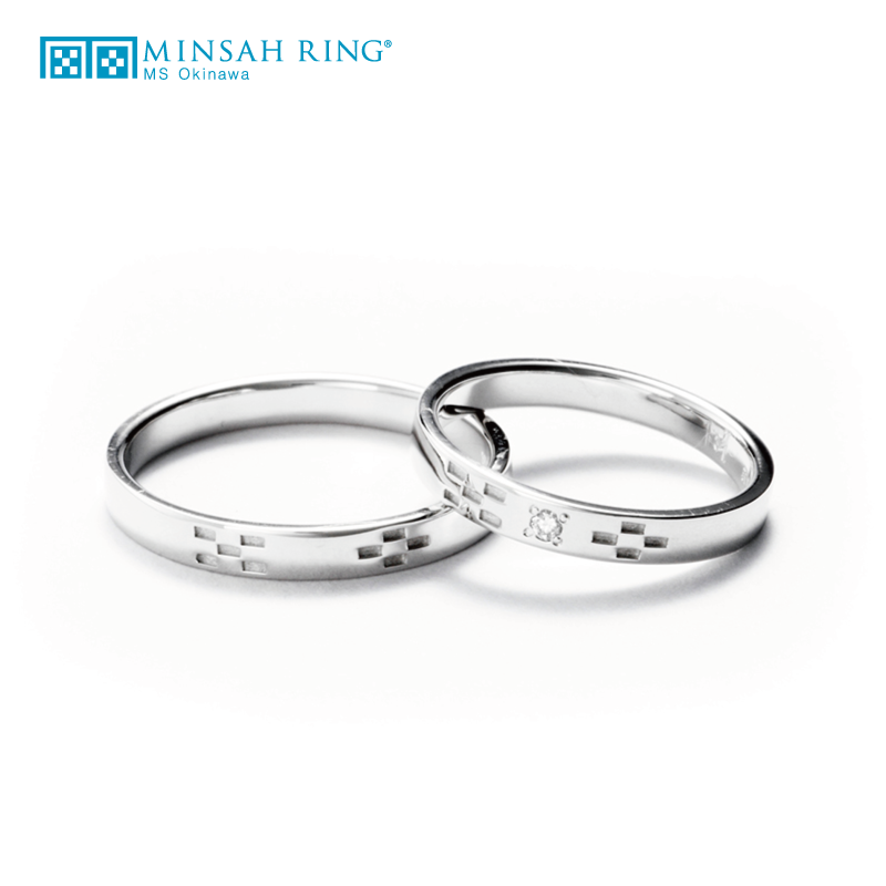 シンプル,ゴージャス 結婚指輪のheal