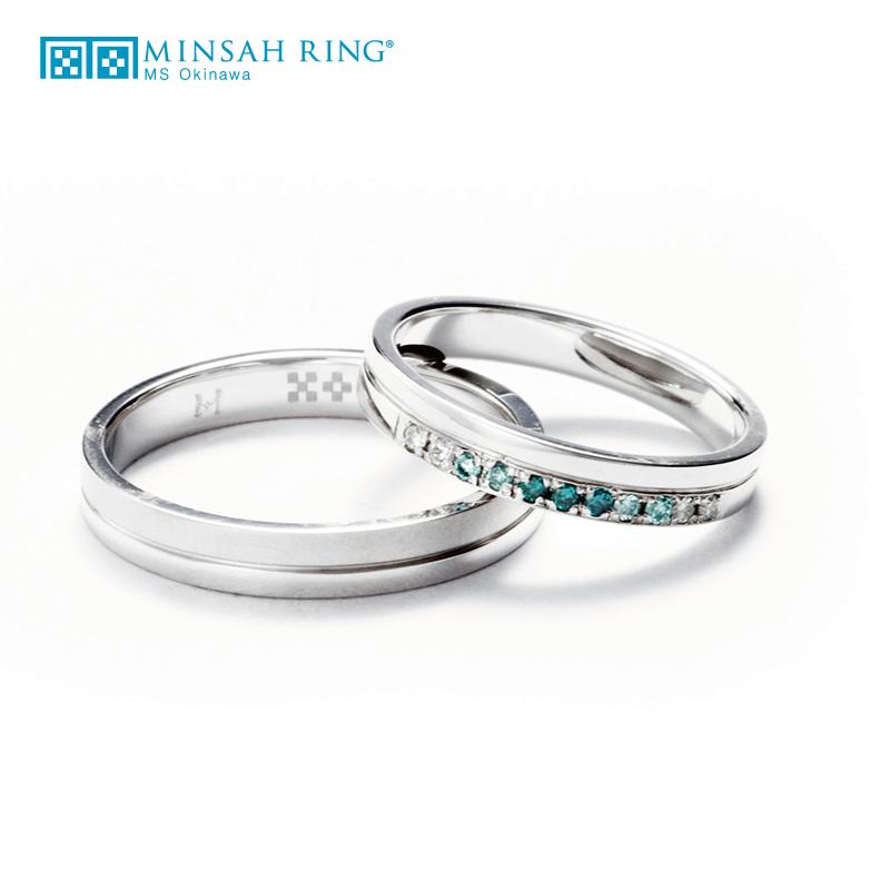シンプル,ゴージャス 結婚指輪のcalm