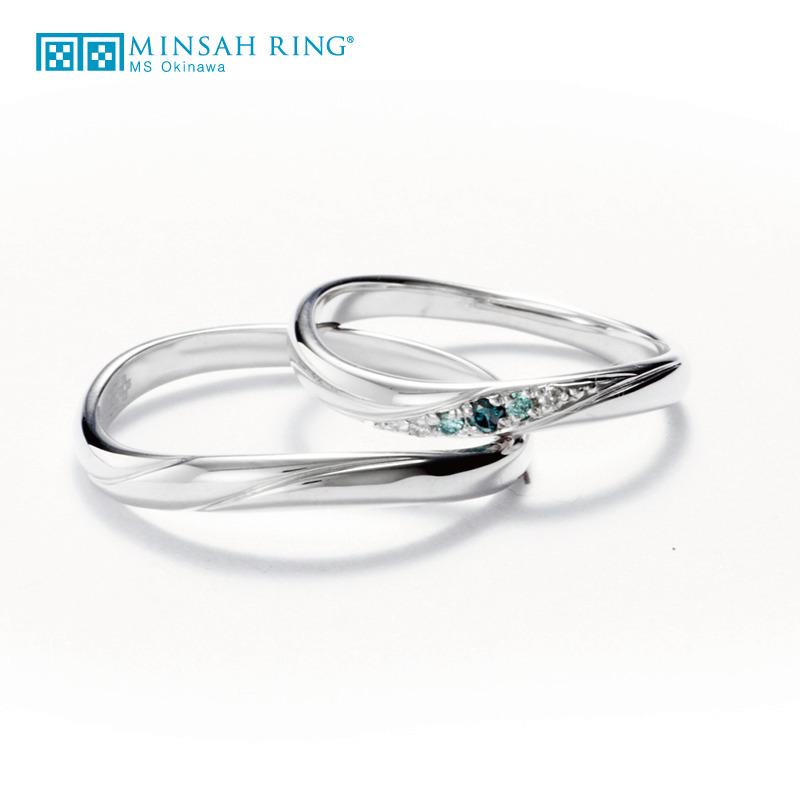 シンプル,ゴージャス 結婚指輪のazure